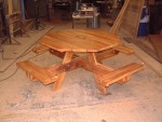 octagonal-picnic-bench-workshop-view