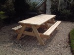 picnic-bench-240cm-end-view