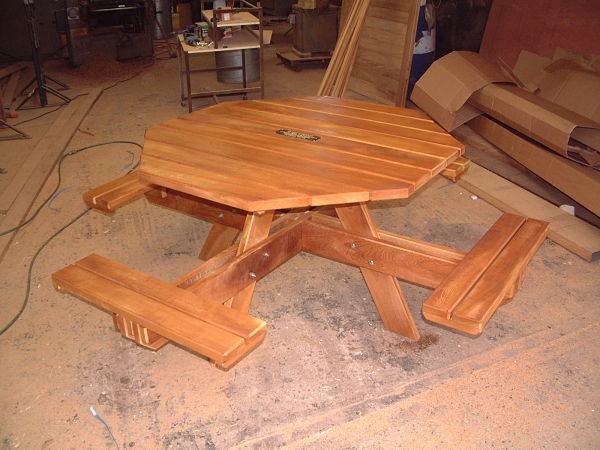 picnic-bench-octagonal-iroko-hardwood