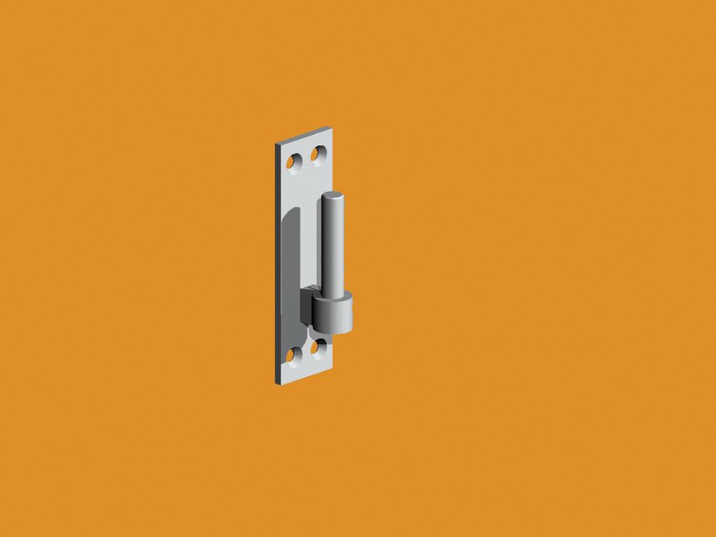 Adjustable Hook on Rectangular Plate